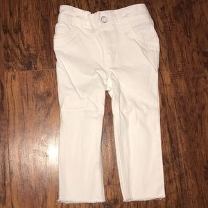 Toddler white jeans
